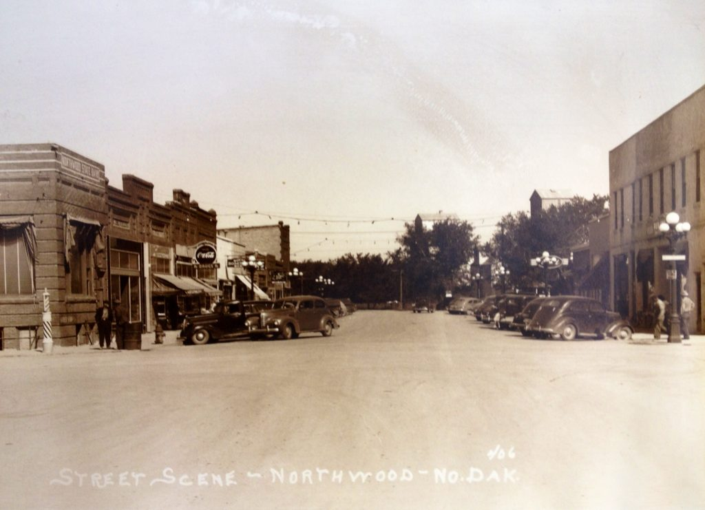 Northwood ND main street old picture